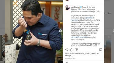 Menteri BUMN, Erick Thohir. Instagram@erickthohir