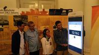 Trafi mengumumkan kerja sama sebagai mitra aplikasi Jakarta Smart City dan aplikasi pendukung Transjakarta (liputan6.com/Agustinnus M. Damar)
