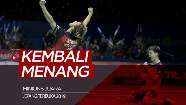 Berita video Kevin Sanjaya / Marcus Gideon kembali mengalahkan The Daddies, Mohammad Ahsan / Hendra Setiawan pada partai final dan kali ini di Jepang Terbuka 2019, Minggu (28/7/2019).