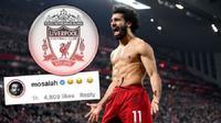 Respons Mohamed Salah di akun Instagram Sky Sports yang menyebut dirinya pantas dijual. (Dok. Instagram/Sky Sports)