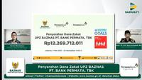 Dukung Gerakan Cinta Zakat BAZNAS, Bank Permata Syariah Tunaikan Zakat Rp 12 Miliar.