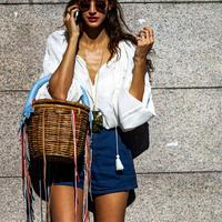Summer basket bag to carry - Photo: styleovernet