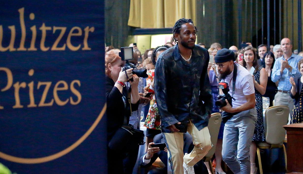 Kendrick Lamar Raih Penghargaan Pulitzer Prize 2018