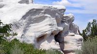 Ada yang unik di negara bagian New Mexico, bagian barat daya AS, yaitu model rumahnya yang hampir sebagian besar seperti batu.