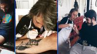 Ezrah mulai menyukai menggambar tatto pada suatu malam di saat ada perkumpulan teman-teman dari orangtuanya.