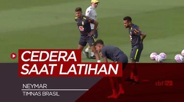 Berita Video Neymar alami cedera punggung saat jalani sesi latihan bersama Timnas Brasil