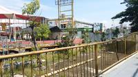 Surabaya Carnival Nigh Market (SCNM) berhenti operasi karena pandemi Covid-19. (Dian Kurniawan/Liputan6.com)