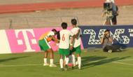 Pemain Timnas Indonesia U-19 merayakan gol Saddam Gaffar ke gawang Qatar di Stadion Velica Gorica, Minggu (20/9/2020). (Mola TV)