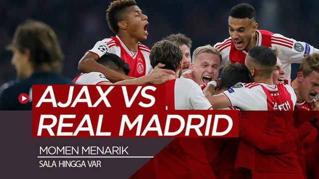 Berita video momen-momen menarik saat Real Madrid menang 2-1 atas Ajax pada leg I 16 Besar Liga Champions 2018-2019, seperti penghormatan untuk Emiliano Sala hingga insiden VAR (Video Assistant Referee).