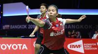 Ganda putri Indonesia, Greysia Polii/Apriyani Rahayu, gagal menyumbang poin pada laga Grup D Piala Uber 2018 kontra China, Rabu (23/5/2018). (PBSI)