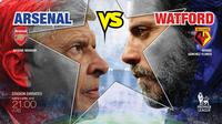 Arsenal vs Watford FC (Liputan6.com/Abdillah)