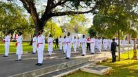 Pasukan pengibar bendera pusaka atau Paskibraka di Istana Negara dalam HUT ke 76 Indonesia. (Liputan6.com/Istimewa)