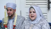 Preskon Pernikahan Dhawiya (Deki Prayoga/Fimela.com)