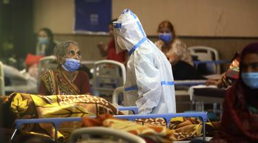 FOTO: Kasus COVID-19 Meledak, New Delhi Berlakukan Lockdown