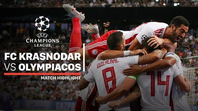 Berita video highlights leg II playoff Liga Champions 2019-2020 antara Krasnodar melawan Olympiakos yang berakhir dengan skor 1-2, Selasa (27/8/2019).