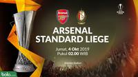 Liga Europa - Arsenal Vs Standard Liege (Bola.com/Adreanus Titus)