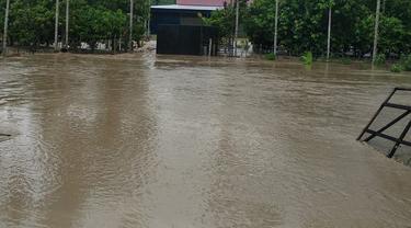 Penampakan banjir di Padang Tiji, Aceh (Liputan6.com/Ist)