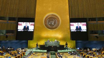 FOTO: Pidato Virtual Presiden Jokowi di Sidang Majelis Umum PBB