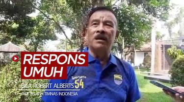 Berita video respons Komisaris PT. Persib Bandung Bermartabat, Umuh Muchtar, apabila Robert Alberts menjadi Pelatih Timnas Indonesia.