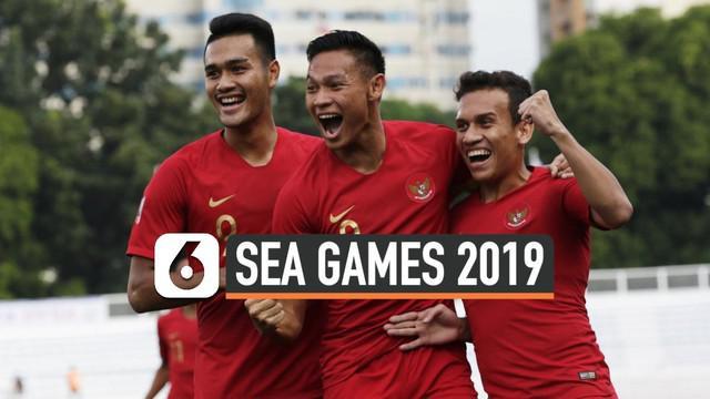 Timnas Indonesi U-22 meraih kemenangan 2-0 atas Thailand di Stadion Rizal Memorial, Manila, Filipina, Selasa (26/11/2019) pada laga pertama cabang olahraga sepak bola SEA Games 2019 Grup B. Gol kemenangan Garuda Muda dicetak oleh Egy Maulana dan Osva...