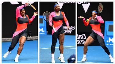 Kumpulan foto-foto dari petenis asal Amerika Serikat, Serena Williams dengan kostumnya yang nyentrik. (Foto: AFP)