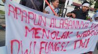 Mahasiswa di Aceh mendesak Komisi HAM PBB mengirim tim pencari fakta untuk menelusuri kemungkinan adanya dugaan pelanggaran hak asasi manusia di Papua. (Liputan6.com/ Rino Abonita)
