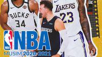 NBA - Ilustrasi Musim 2020-2021 (Bola.com/Adreanus Titus)