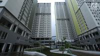 Kondisi bangunan wisma atlet Asian Games 2018, Kemayoran, Jakarta, Minggu (4/2). Pembangunan rusun yang akan digunakan sebagai Wisma Atlet pada Asian Games 2018 telah dinyatakan selesai 100 persen. (Liputan6.com/Helmi Fithriansyah)