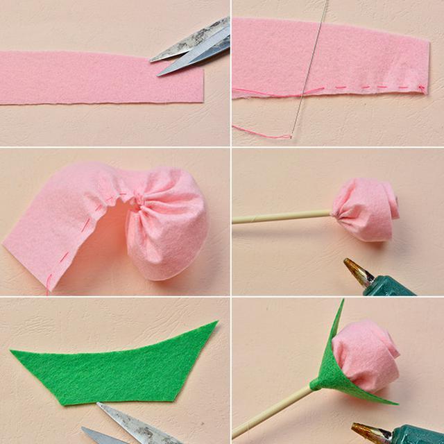 Cara Membuat Buket Bunga Dari Kain Flanel Untuk Anak Mudah Dan