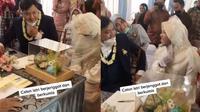 Viral Pengantin Kena Prank Usai Ijab Qobul, Ternyata Sosok yang Di Sebelahnya Bukan Istrinya. (Sumber: TikTok/Indradewi2242).
