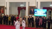 Presiden Jokowi melantik Murad Ismail-Barnabas Orno sebagai Gubernur dan Wagub Maluku. (Liputan6.com/Lizsa Egeham)