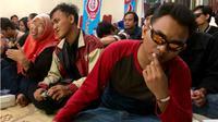 Suasana Dengar Bareng Piala Dunia 2018 bersama difabel netra Yogyakarta (KRJogja.com/Harminanto)