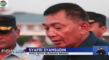 Wakil Ketua Pelaksana INASGOC melepas kontingen torch relay atau kirab obor Asian Games 2018 yang berangkat menggunakan pesawat TNI AU.