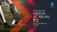 Genoa vs AC Milan (Liputan6.com/Abdillah)