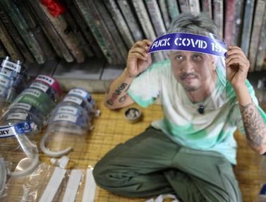 FOTO: Melihat Produksi Face Shield Jelang New Normal