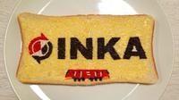 PT INKA mengirimkan potret melukis di atas roti dengan meses dengan potret yang bertuliskan kata INKA (Dok.Twitter/@ptinka/https://twitter.com/ptinka/status/1255485376829022208/photo/2/Komarudin)