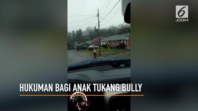 Seorang ayah menghukum anaknya berlari ke sekolah sejauh 1,6 km karena membully temannya.