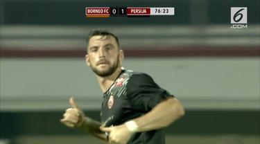 Persija berhasil hempaskan perlawanan Borneo FC. Macan Kemayoran menang 2-0 melalui dua gol Marko Simic.
