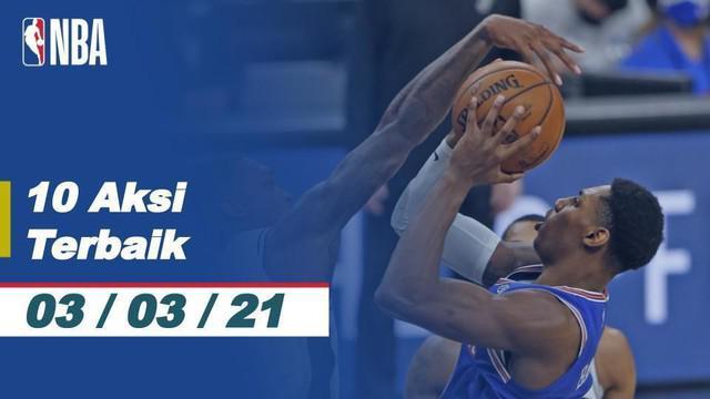 Berita Video 10 Aksi Terbaik NBA 3 Maret 2021, Melihat Slam Dunk dari Giannis Antetokounmpo