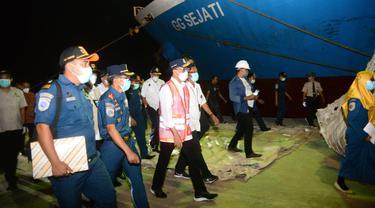 Kunjungan Menhub Budi Karya SUmadi ke Pelabuhan Badas yang berada di Kota Sumbawa Besar, Nusa Tenggara Barat (NTB)
