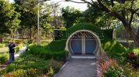 Tempat berswafoto di Taman Kebon Ratu Jombang. (Times Indonesia/Adhitya Hendra)