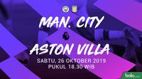 Premier League - Manchester City Vs Aston Villa (Bola.com/Adreanus Titus)