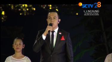 Tulus dalam Opening Ceremony Asian Games 2018 (SCTV)