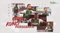 Trio Kunci Persebaya Surabaya. (Bola.com/Dody Iryawan)