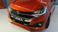 Desain grill dan bumper new Daihatsu Ayla lebih sporty. (Arief/Liputan6.com)