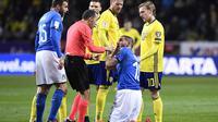 Timnas Italia saat keok dari Swedia (Jonathan NACKSTRAND / AFP )