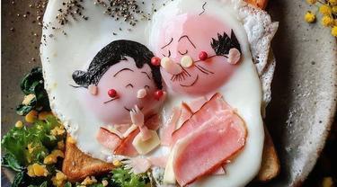Indah Banget, Wanita Ini Ciptakan Karya Seni dari Makanan untuk Buah Hatinya