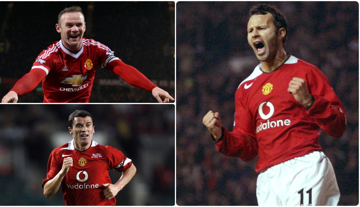 Sir Alex Ferguson merupakan salah satu pelatih terhebat yang membawa Manchester United meraih banyak trofi bergengsi. Berikut 7 pemain yang sering dimainkan Sir Alex Ferguson saat menahkodai Manchester United. (kolase foto AFP)