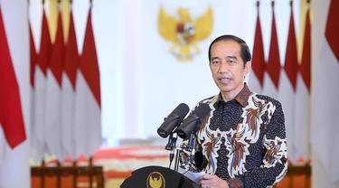 Jokowi saat menyampaikan sambutan dalam Perayaan Natal Nasional 2020 (Istimewa)