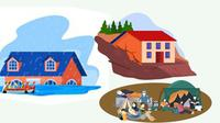 Banner Infografis Petaka Banjir dan Longsor Sumedang, Kalsel hingga Manado. (Liputan6.com/Trieyasni)